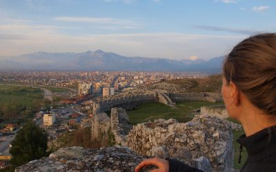 View over Shkoder from Rozafa castle