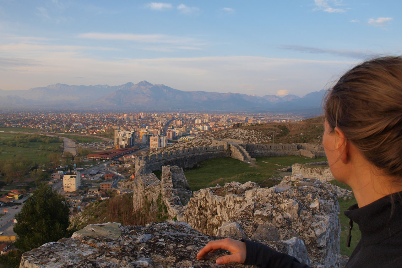 View over Shkoder from castle