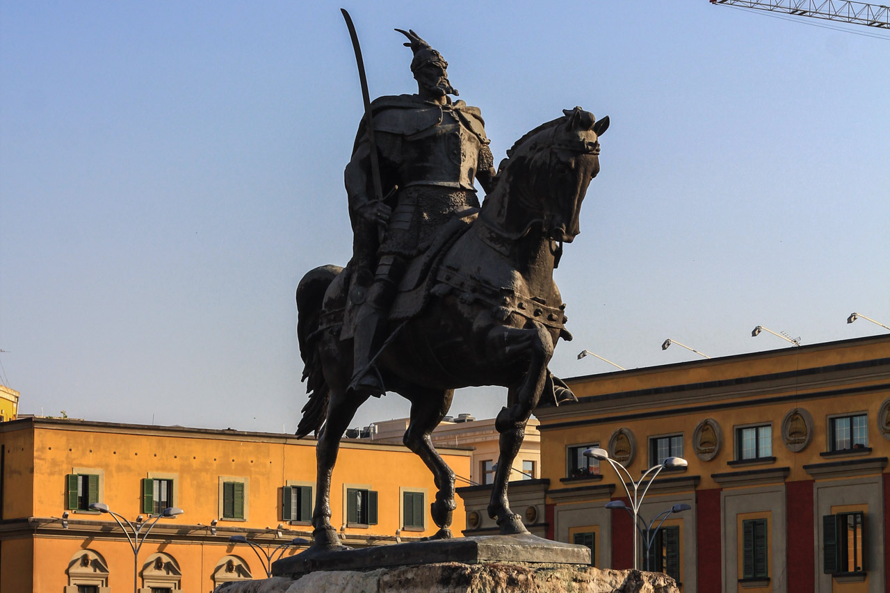 Statue of national hero Skenderbeg, Tirana