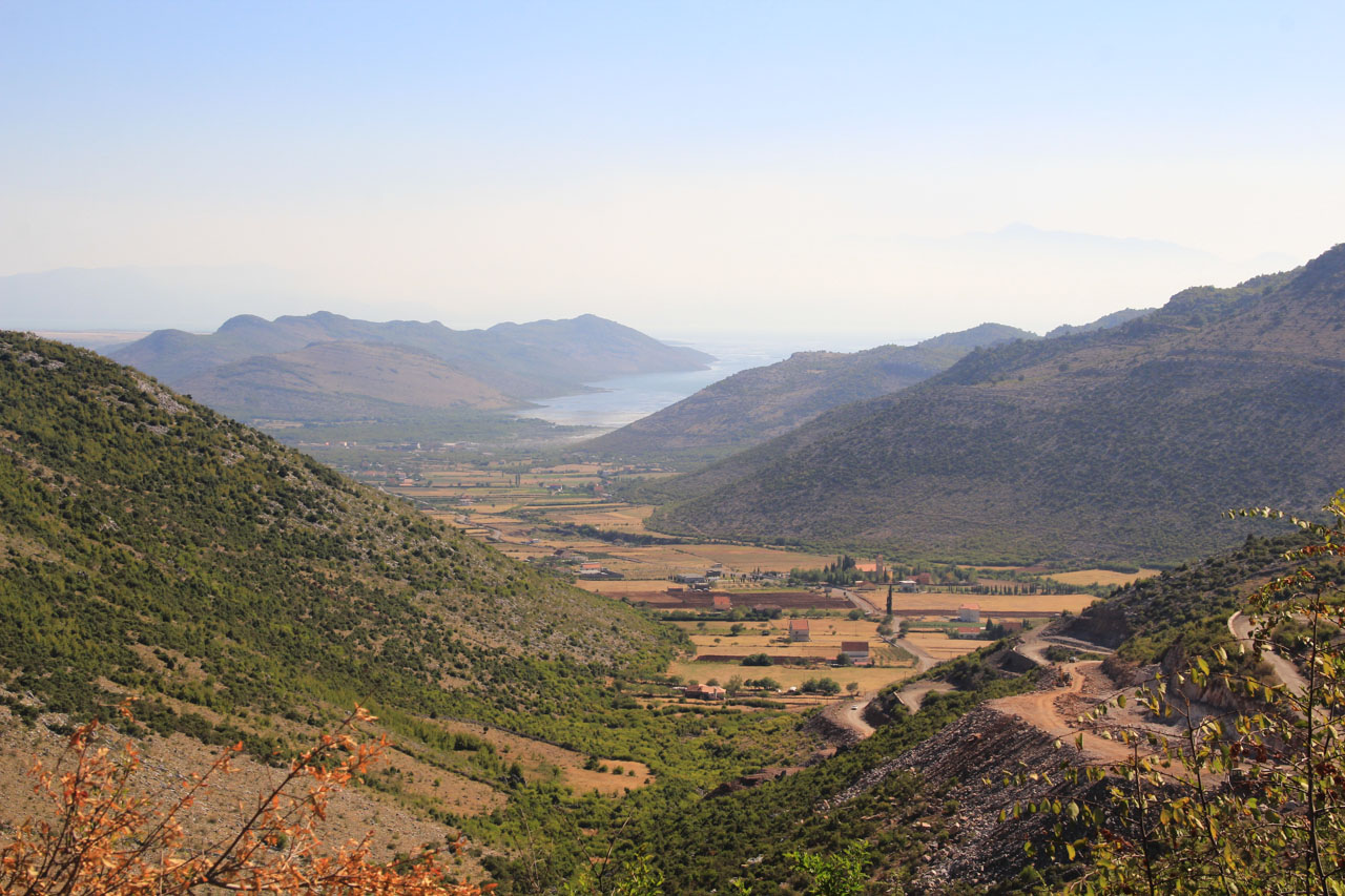On the way from Shkoder to Kelmend, looking back on Lake Shkoder