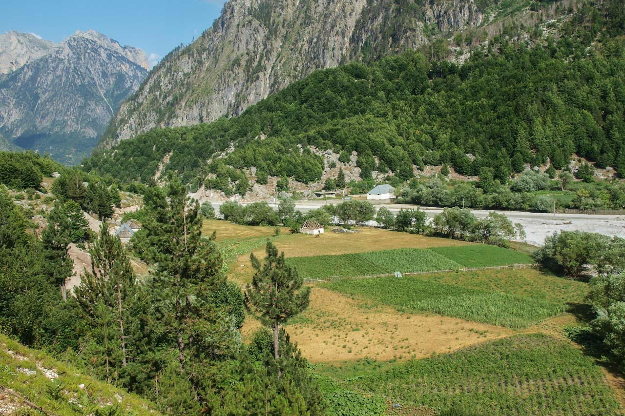 Valbona valley, near village center