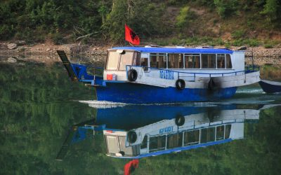 The passenger ferry, have a close look! Its an old Mercedes Setra bus converted into a boat - Albanian's love Mercedes ;)