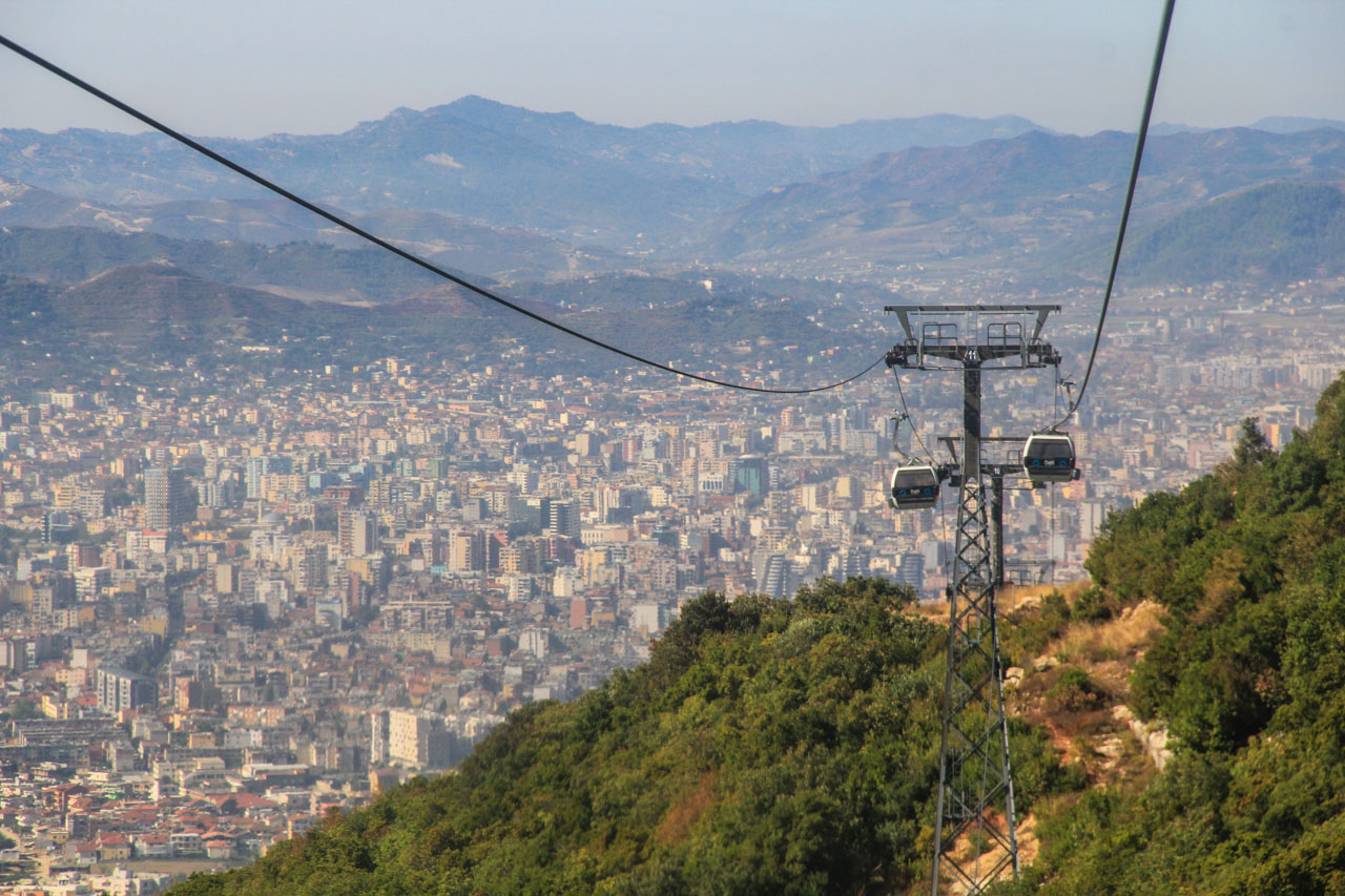 Dajti Express, the cableway up to Mt Dajti with great views over Tirana