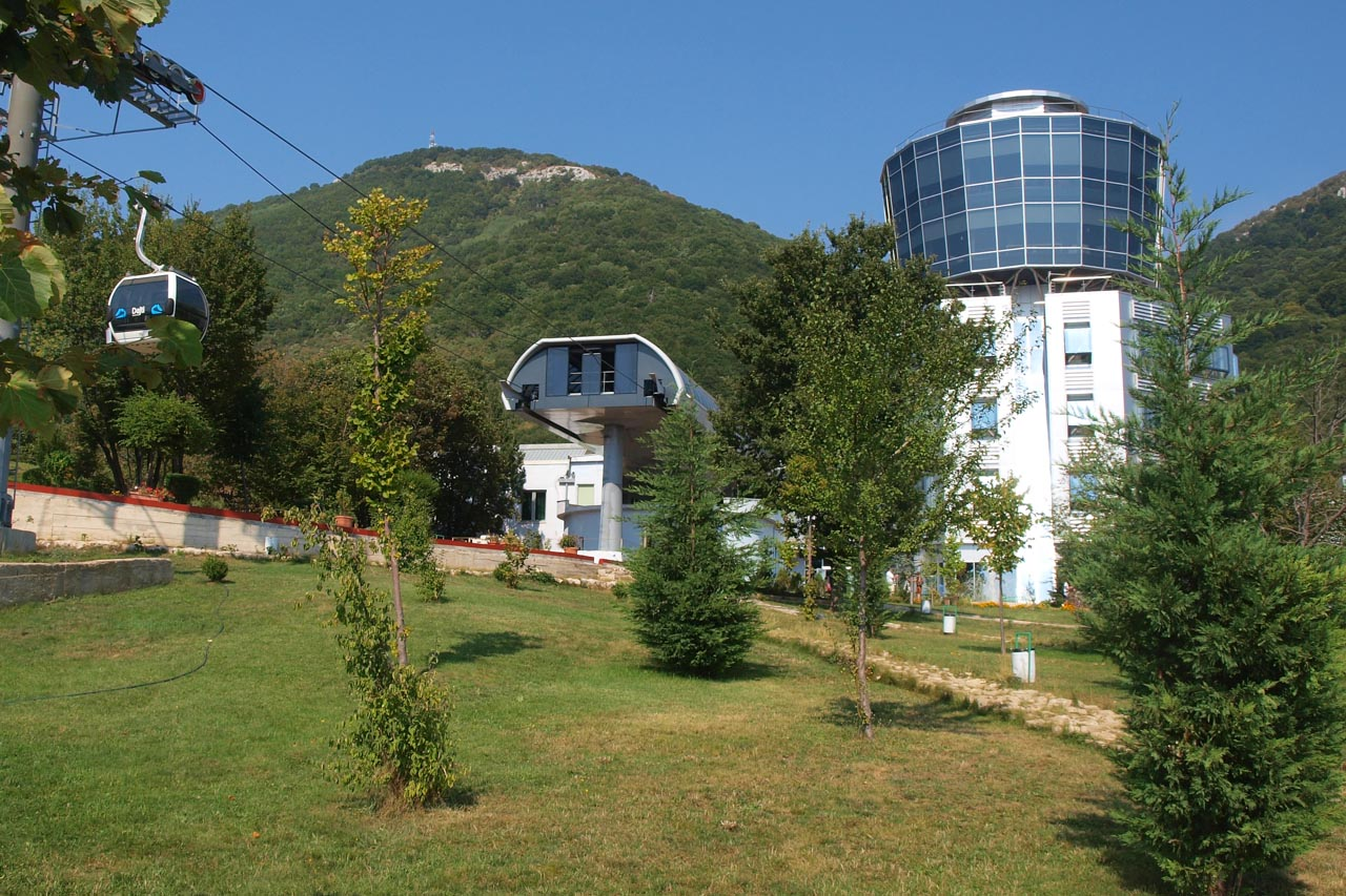 Upper cable car station on Mt. Dajti