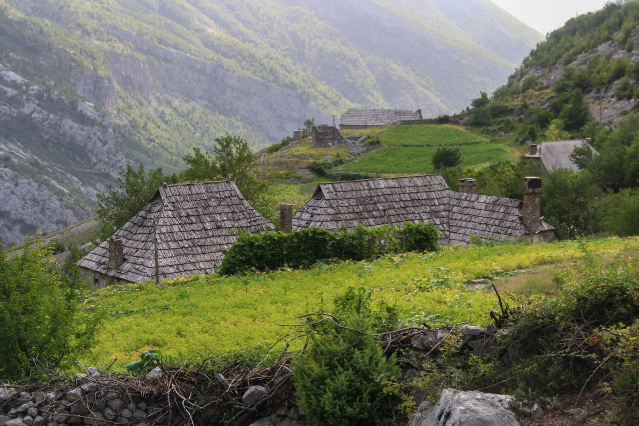 Houses higher up in the natural amphitheater of Nikc valley