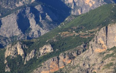 The area has plenty of tiny villages and summer alps that dot the dramatic rocky scenery