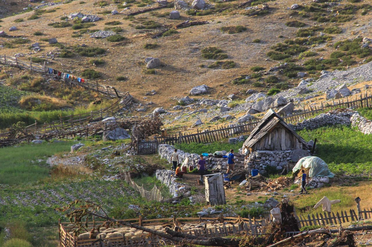 The shepherd summer huts of Dobraces at 1650m