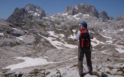 The Accursed Mountains' central plateau; straight the way up to Maja e Radohimes, and the base of Maja e Shtogut on the far right