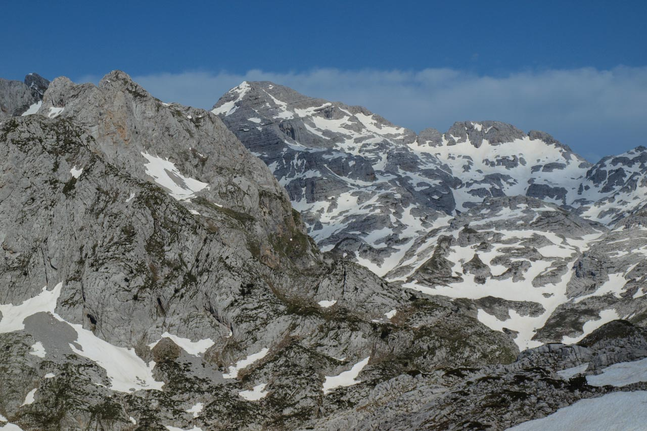 View of Maja e Jezerces / Mt Jezerca, at 2694m the highest peak of the Albanian Alps/Prokletije