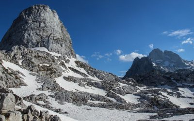 Maja e Arapit, the peak most prominent from down in Thethi valley