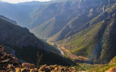 The bottom of Cemi Canyon, at the border with Montenegro