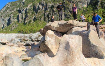 Bizarre rock formations