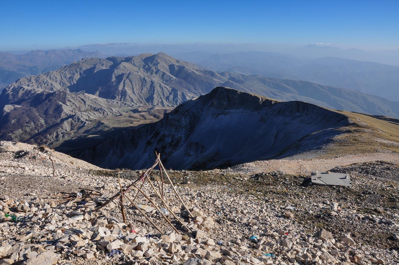 Views from Mt Tomorr (2416m), the holy mountain of the Bektashi faith