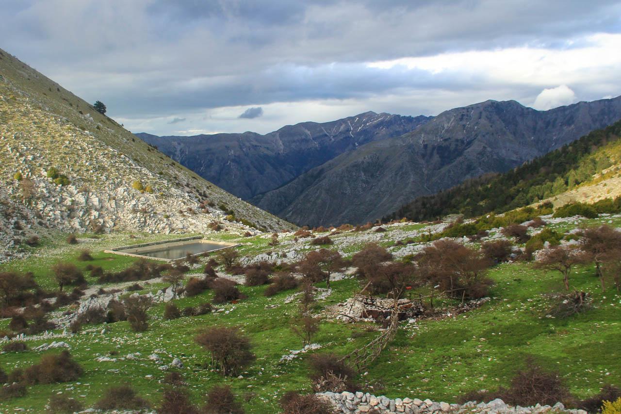 Small shepherds' summer camp near Llogara Pass