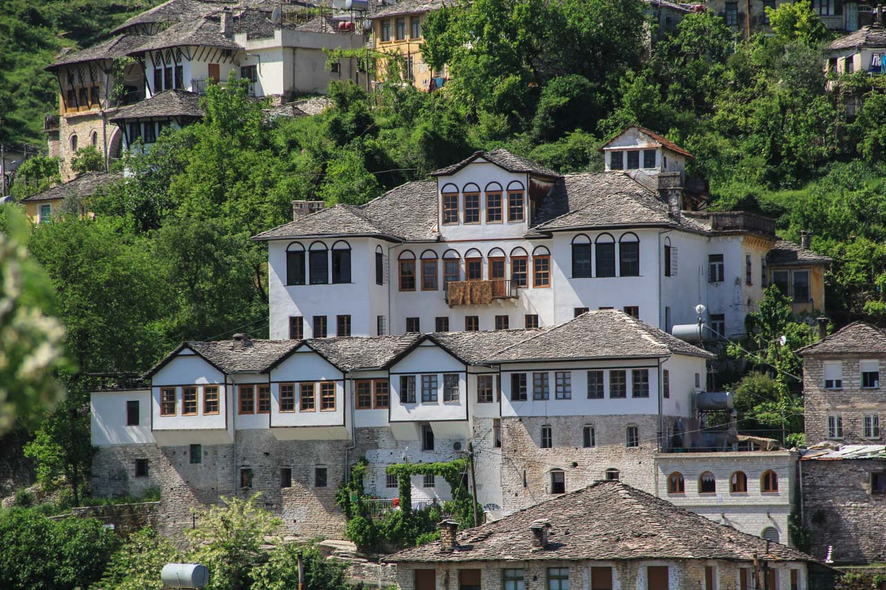 Distrinct Ottoman style houses dominate the Old Town