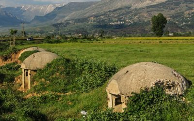 Small bunkers from Albania's communist period are still a common sight all over the country