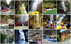 Rafting in Albania with Zbulo! at Osumi Canyon near Berat and on Vjosa near Permet